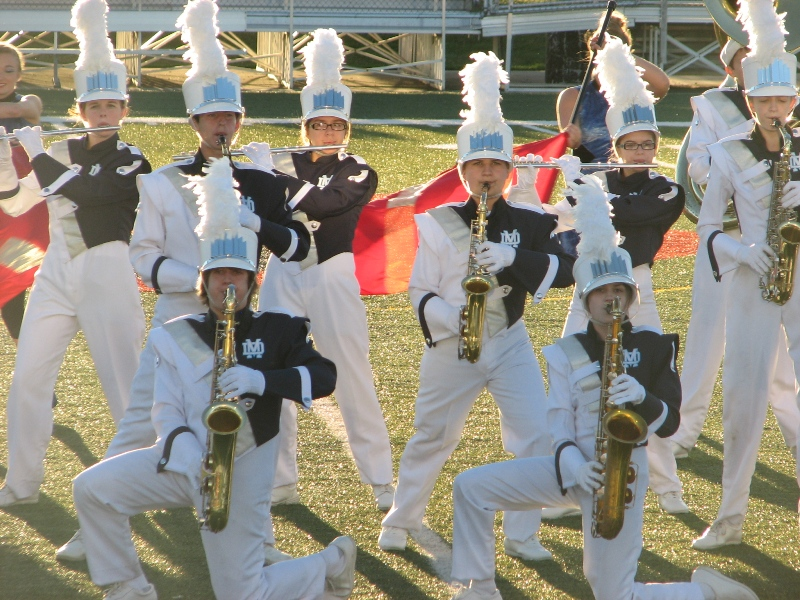 The Mater Dei Marching Knights participated in their first competition of the marching season in Edwardsville on Saturday, September 22. The Marching Knights won Best Percussion and earned 2nd Place in their class.