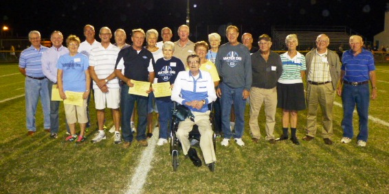 Former MD graduates from the Class of 1955 thru 1964 were recognized and honored at halftime of the homecoming football game.