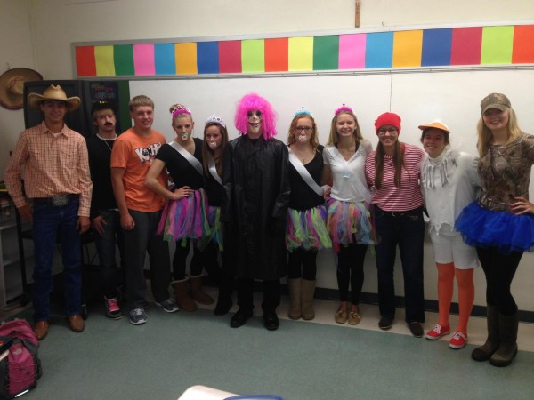 MD students have fun dressing up for Halloween.