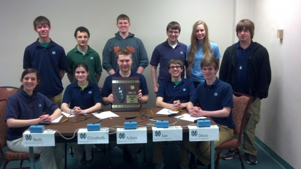 The MD Scholar Bowl team recently won the Regional championship.