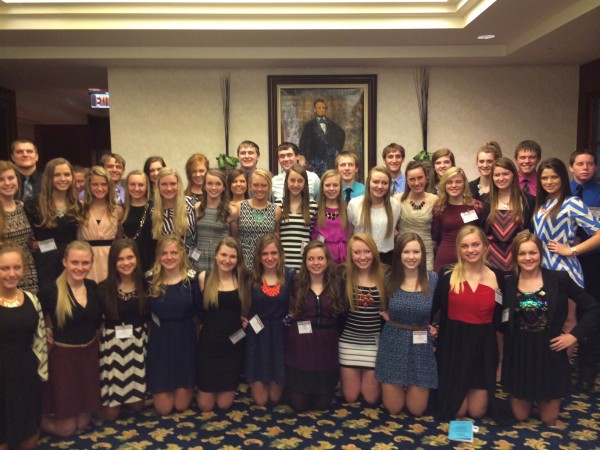Mater Dei students attended the Future Business Leaders of America conference last weekend in Springfield.