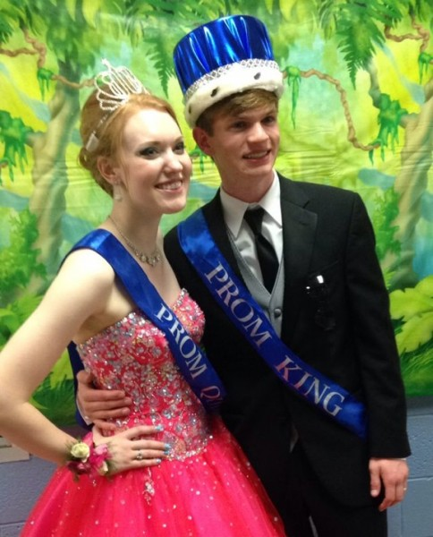 Drew Lugullo and Emily Abbott crowned king and queen at MD Prom.