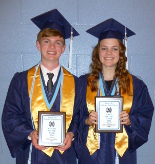 Drew Lugullo and Zoe Timmermann are announced as Knight and Lady Knight of MD.