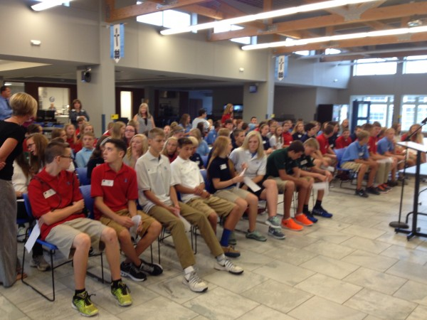 The Class of 2018 arrives for the first day of classes at MD.