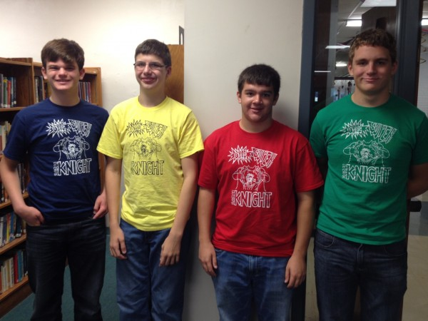 MD students represent their color coordinated class t-shirts.