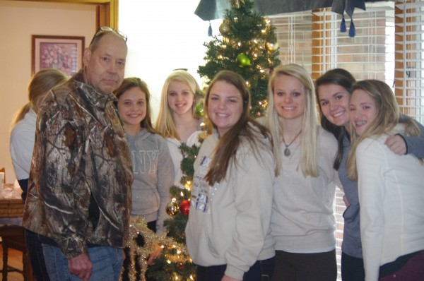 Several Mater Dei students help decorate the Royal Living facilities inn Aviston and New Baden.