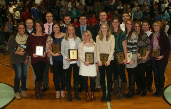 Eighteen former student / athletes returned to Mater Dei  on Saturday and were inducted into the Athletic Hall of Fame.
