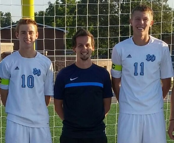 Cade Brees (All-Sectional Selection), Coach James Arnold (Region 12 IHSSCA Coach of the Year), and Nick Pollmann  (All-Sectional selection) get recognized for their outstanding performances from the soccer season which won the Regional Championship.