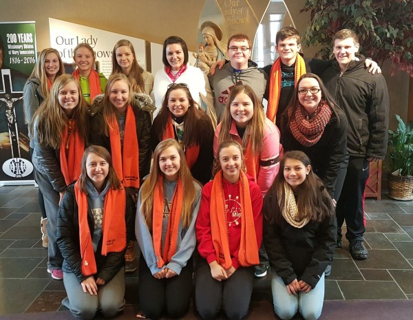 A group of Mater Dei students recently weathered a trip to Washington, D.C. to participate in the annual  Right to Life March.