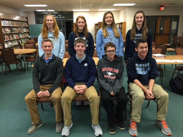 2016 2nd quarter Students of the Quarter are  front row: Matthew Mote, Peyton Kreke, Jaden Meadows, Nicholas Wolden. back row: Taylor Padak, Victoria Arentsen, Quinn Cutler, and Madeline Sullivan.