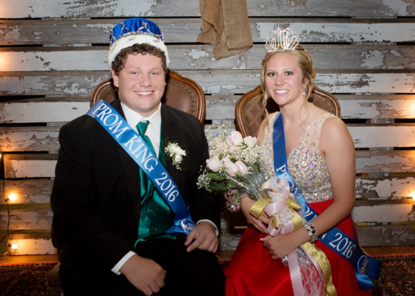 Nolan Seelhoefer and Brooke Remmert were crowned knig and queen at the 2016 prom.