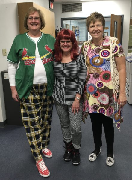 Pictured (l to r) are Mrs. Kathy Huelsmann, Mrs. Debbie Benhoff and Ms. Mary Miesner.